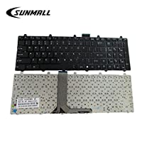 SUNMALL 笔记本电脑键盘替换带框架适用于 MSI GE60 GE70 GT60 GT70 16GF 16GC 16F4 16F3 16FK 1762 1763 V123322BK1 S1N-3EUS281 无背光美国布局