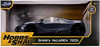 Jada 《速度与激情:特别行动 Hobbs & Shaw》Shaw的McLaren 720S 1/24 模型汽车