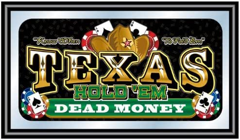 Trademark Texas Hold 'em 带框扑克镜 - Dead Money,黑色