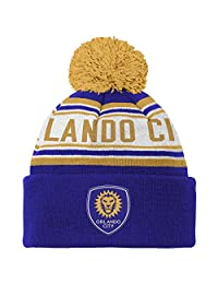 MLS 青年男孩带毛边针织帽