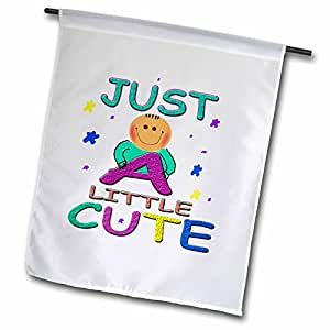 儿童 Stuff–Just A 小可爱–旗帜 12 x 18 inch Garden Flag