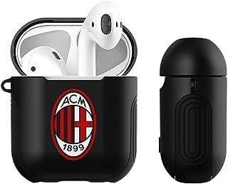 官方 AC 米兰标志硬壳带硅胶手柄兼容苹果 AirPods 充电盒H7601-AIRPDBK-ACMLGO-PLA  Black