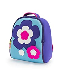Dabbawalla Bags Flower Power Kid's Toddler and Preschool Backpack, Purple/pink