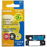 Casio 卡西歐 磁盤標題打印機 色帶 藍色
