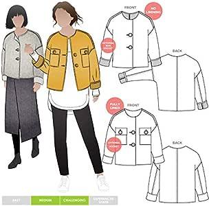 Style Arc 缝纫图案 - Adelaide 针织夹克 Sizes 18-30 MLJW037L