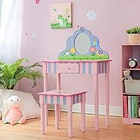 Fantasy Fields – 魔法花园游戏梳妆台和凳子套装 带真实镜子 | 儿童木制家具