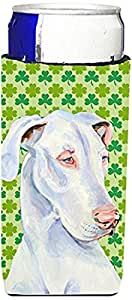 Great Dane St. Patrick's Day Shamrock Portrait Michelob Ultra Koozies for slim cans LH9176MUK 多色 Slim
