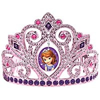 """Sofia the First Electroplated Princess Birthday Party Tiara Wearable Favour (1 Piece), Multi Color, 3 1/2"""" x 4 1/2""""."""