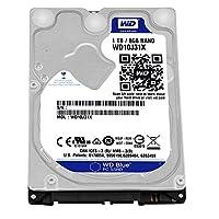 WD 蓝色 1TB 移动硬盘 - 5400 RPM SATA 6 Gb/s 64MB 缓存 9.5 MM 2.5 英寸 - WD10J31X