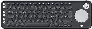 Logitech K600 智能电视键盘 集成触摸板和D 盘 - 蓝牙和 USB - 石墨 - QWERTZ 德语键盘布局