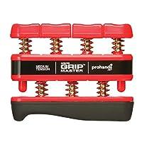 Gripmaster 手部练习器 红色,中等张力(每根手指 7 磅) 7 pounds