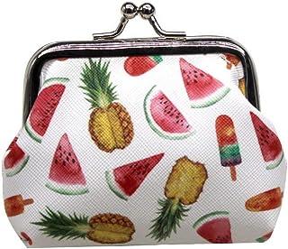 可爱的西瓜菠萝冰淇淋零钱包 - 迷你彩色搭扣钱包钥匙包钱袋,送给女孩、儿童钱包,女士钱包,搭扣,派对礼物