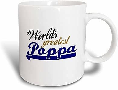 3dRose mug_151318_3 Worlds Greatest Poppa Father Or Grandfather Nickname Gifts Magic Transforming Mug, 11-Ounce