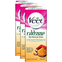 Veet Nikhaar *膏,適用于所有膚質 - 50 克(3 件裝)