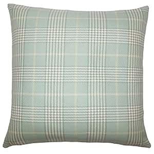 """The Pillow Collection Landen Houndstooth Euro Sham Seaglass """"Multi"""" Euro/26"""" x 26"""" EURO-D-32798-SEAGLASS-C100"""