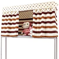 Adela Dorm 家用双层床帘透气防尘单床床罩遮阳布 风格 8 1.5 * 2m (3 pcs)