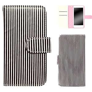 白色坚果条纹手机壳翻盖式 サクラ×ブラウン 1_ iPhoneSE