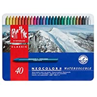 米朗什達經典·Neocolor II 水溶性蠟筆,40種顏料