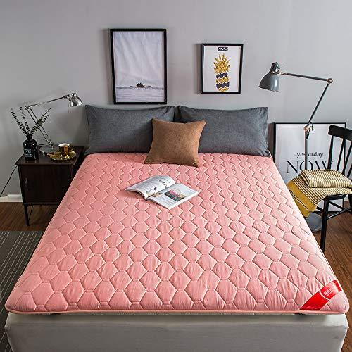 水漾 全棉床垫床褥1.8x2.0米垫被垫子加厚保护垫海绵褥子宿舍1.2 玉色- 150 * 190CM(厚度约6CM-)