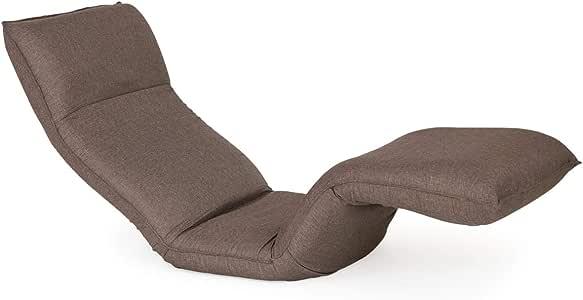 YAMAHI 产学联携 舒缓腿部睡椅 棕色 外形尺寸:(约)宽57×深111(111~175)×高79cm 椅面高度:(约)12cm