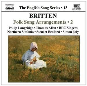 进口CD:布里顿:民歌改编曲,第2辑 Britten:Folk Song Arrangements,Vol.2(English Song,Vol.)(CD)8.557222