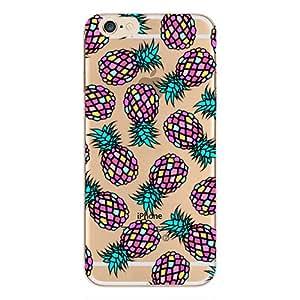 iPhone 8/iPhone 7 手机壳(4.7 英寸),Blingy's Beautiful Flower 系列透明软橡胶 TPU 透明手机壳 iPhone 8/iPhone 7 粉色菠萝