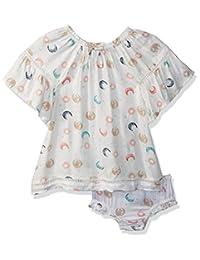 Jessica Simpson 女宝宝钟袖时尚连衣裙