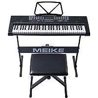 美科多功能电子琴61键智能教学跟弹初学者入门儿童成人仿钢琴键电子琴MK-2102+琴架+升降琴凳