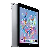 【2018新款】 Apple iPad 9.7英寸平板电脑(32G WIFI版/A10 芯片/Retina显示屏/Touch ID技术 MR7F2CH/A) 深空灰 套装版【内含复古麋鹿定制款保护套+chirslain清洁套装】