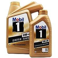 Mobil 美孚1号 0w40 金美孚1号 0w-40 4L+1L 5L SN 美孚一号 全合成机油 润滑油 原厂(正品行货 防伪查询)