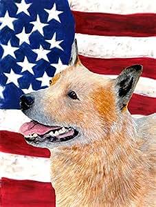 USA American Flag with Australian Cattle Dog Flag 多色 大