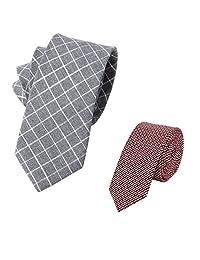 jeffy & 复古男式棉质薄 neckties