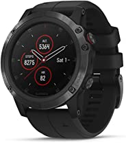 Garmin fēnix 5X Plus, Ultimate Multisport GPS Smartwatch, Features Color TOPO Maps and Pulse Ox, Heart Rate Monitoring, Musi