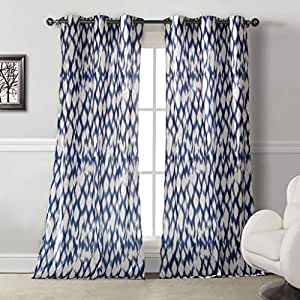 Duck River Textiles Kensie Home 'Caitlin' Cotton-Satin Look Grommet Pair Panels, Cobalt Blue
