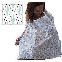 GREAT 时尚款式仙人掌*** 棉 breathes nicely 适用于婴儿 & 母亲适用于舒适喂奶。 包括领肩带 & FREE 配套旅行包 . AZO
