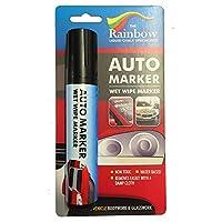 AUTO Writer Marker 汽车车身面板和挡风玻璃的可拆卸涂料 黑色 15mm ABCD
