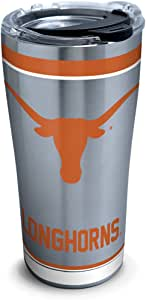 Tervis 1297309 NCAA 德州长角牛队传统不锈钢杯 银色 20 oz Stainless Steel 1297286