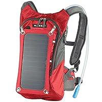 徒步背包,7 墙太阳能电池板充电,适用于智能手机和平板电脑、GPS、电子阅读器、蓝牙扬声器、Gopro 摄像机4326540928 摩托车套装 红色,带电池组