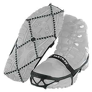 yaktrax PRO traction 钉鞋适用于散步慢跑或徒步上的雪