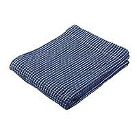 西川家居用品 毛巾毯 大号围巾 清爽舒适 蓝色 140×190㎝ 2232-02342