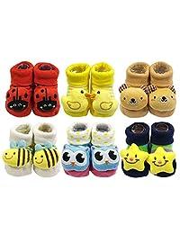 可包装可爱3D 卡通 anti-skid 婴儿浴衣袜子拖鞋 SHOES ( 6件套 )