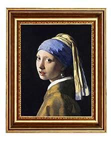 Eliteart-Girl 珍珠耳环 Girl With a Pearl Earring (Sf801) 16x20