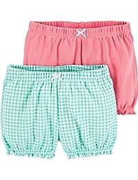 Carter's 卡特女婴2件装。 泡泡短裤 - 薄荷色/粉色