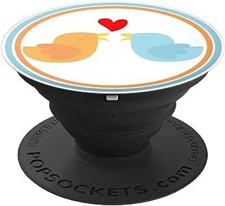 爱中的鸟 - PopSockets 手机和平板电脑抓握支架260027  黑色