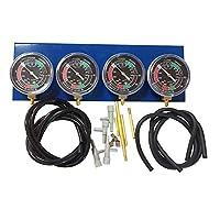 通用摩托车真空化油器同步器同步平衡器化油器同步平衡器化油器同步平衡仪套件适用于 2、3 或 4 缸发动机,摩托车 蓝色+黑色 15840945437440