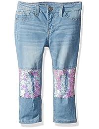 Lee 幼儿女童时尚紧身七分牛仔裤