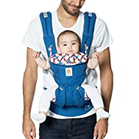 ERGObaby OMNI 360 Cool Air Mesh 透气网眼 符合人体工程学 婴儿背带 适合所有携带姿势 经典 Blue Classic