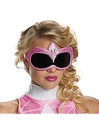 Disguise 女士粉红色 Ranger 成人 1/4 服装配饰面具