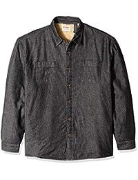 WRANGLER 男式 authentics 长袖羊羔绒内衬牛仔衬衫