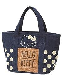 Skater斯凯达带软木收纳袋 保冷 牛仔布 包 Hello Kitty 三丽鸥 KBCO3